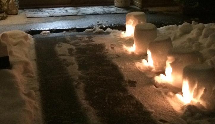 雪遊び・雪灯籠作り(冬季)